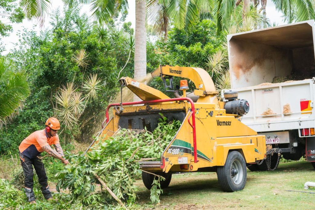 Chipper and Truck from Brisbane Tree Equipment Hire